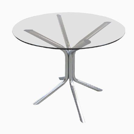 Vintage Tisch aus Chrom und Rauchglas, 1970er Jetzt bestellen unter - marmor wohnzimmer tische