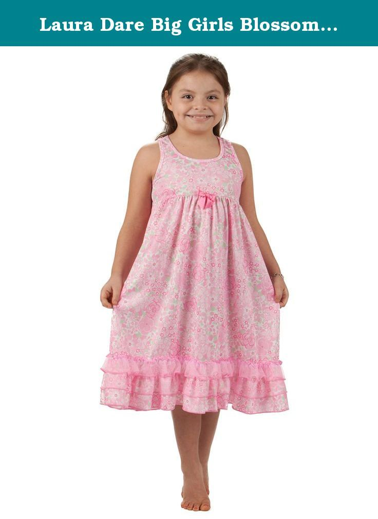 5faffa91f5 Laura Dare Big Girls Blossoms Racerback Nightgown