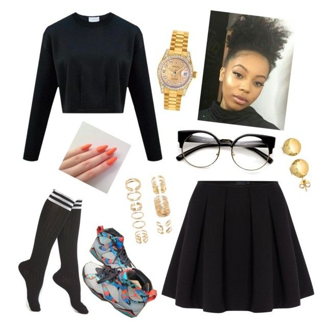 """""""School"""" by wondergoddess ❤ liked on Polyvore featuring мода, Arthur George, Polo Ralph Lauren, Rolex, Forever 21 и Sevil Designs"""