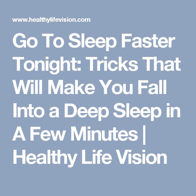 How to make u sleep faster