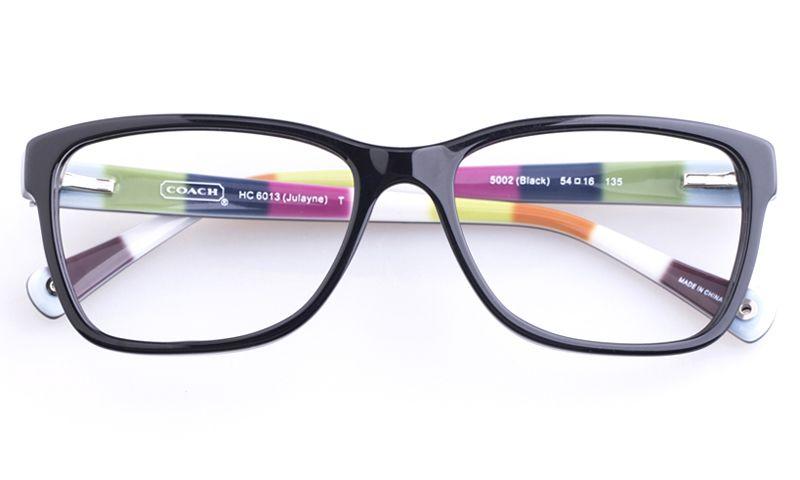e7372d4f95 Coach HC6013 Acetate Mens Womens Square Full Rim Optical Glasses(Black ~Multicolor)