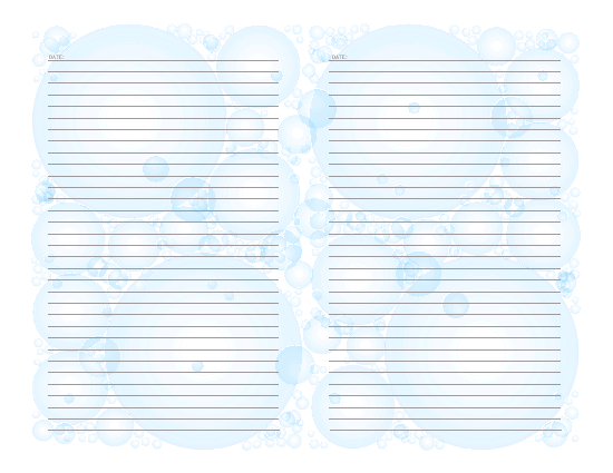 Printable Stationar In Two  Printable Templates  Lined Paper