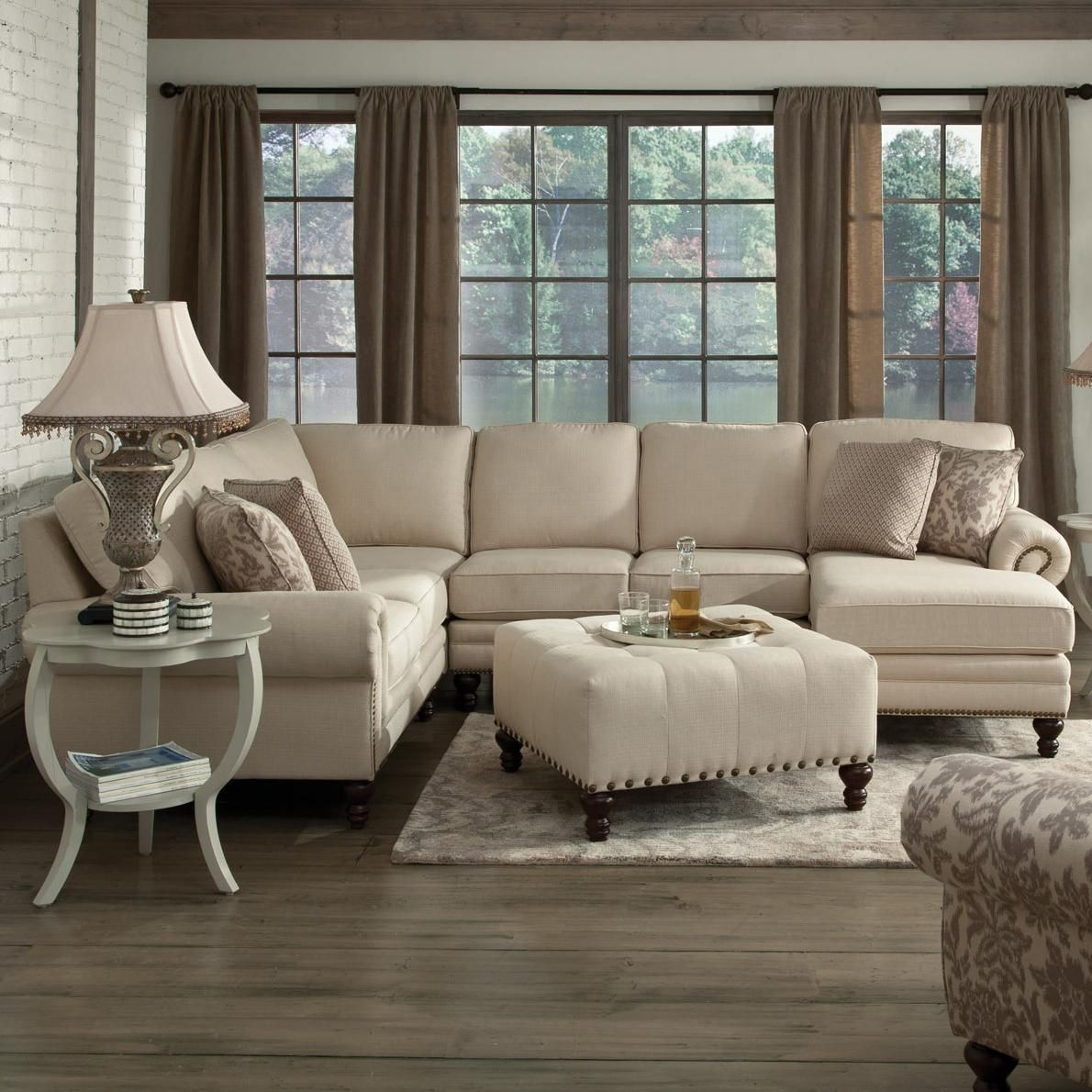 Amix Six Seat Sectional with Right Chaise by England ...