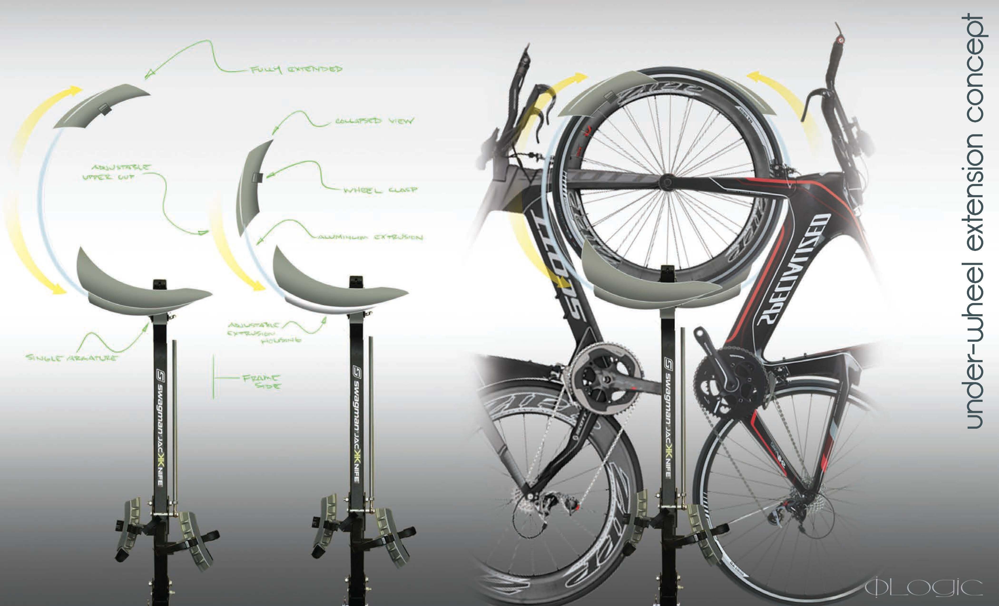 Product Design Vertical Mount Universal Bike Rack For Swagman