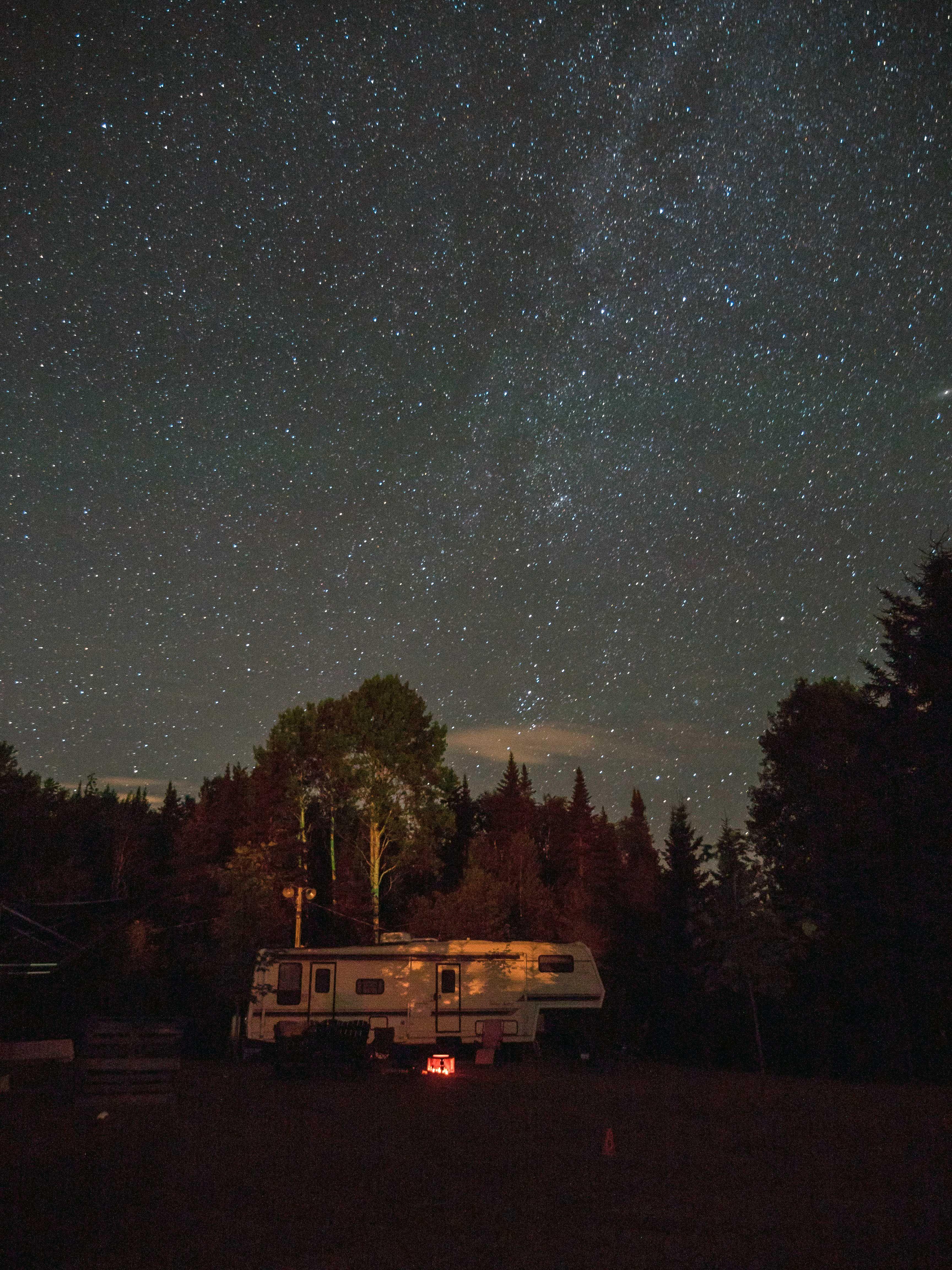 Noche perfecta sobre tu motorhome Casa rodante