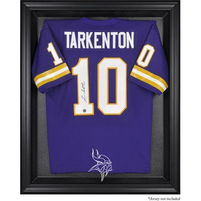 Mounted Memories NFL Logo Jersey Display Case Frame Color: Black, NFL Team: Minnesota Vikings