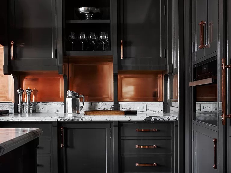 514 W 24th St Apt 8 New York Ny 10011 Zillow Black And Copper Kitchen Roman And Williams Black Kitchen Cabinets
