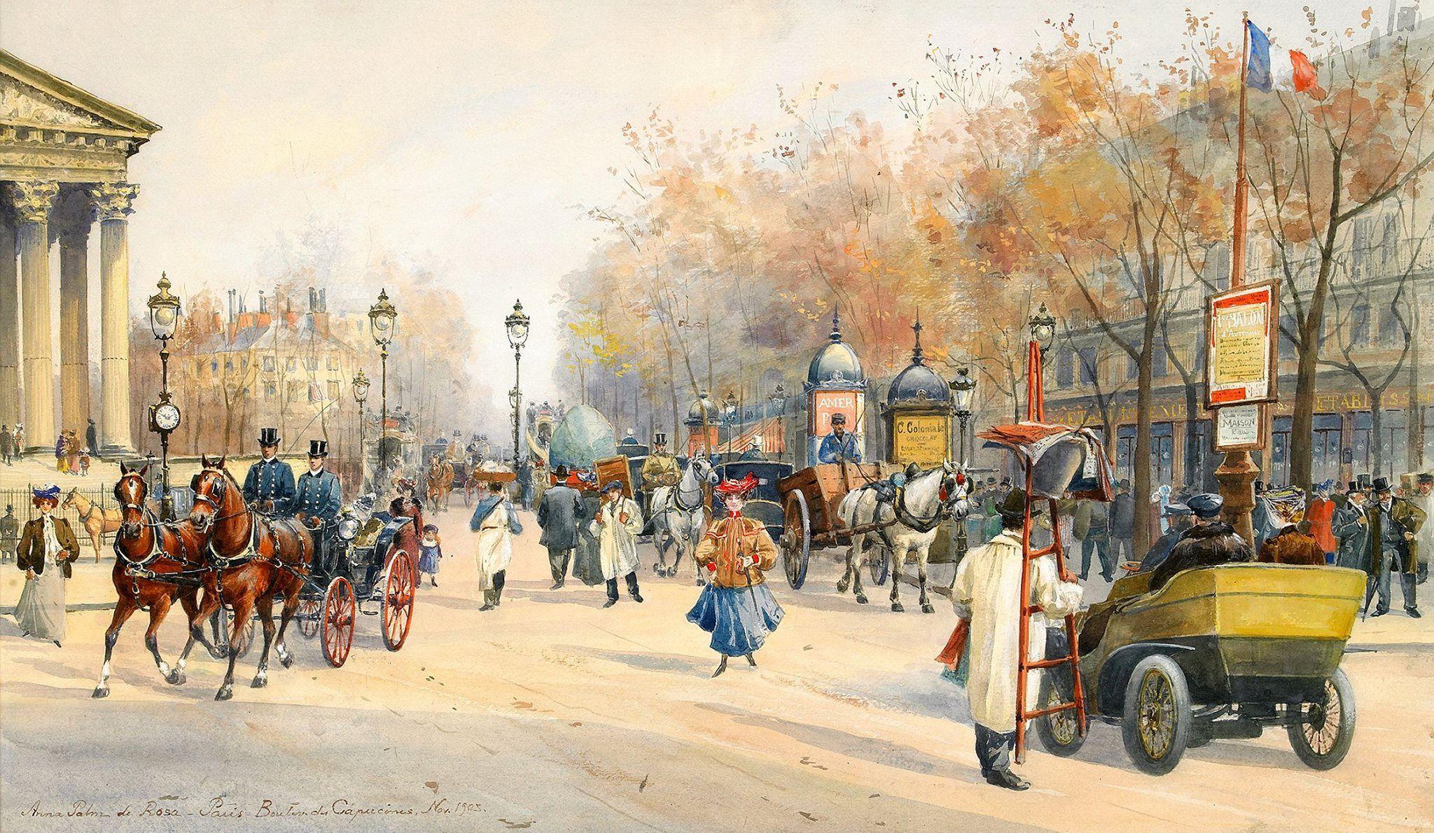 1903........PEINTURE DE ANNA PALM DE ROSA.........PARTAGE DE PARIS BELLE ÉPOQUE