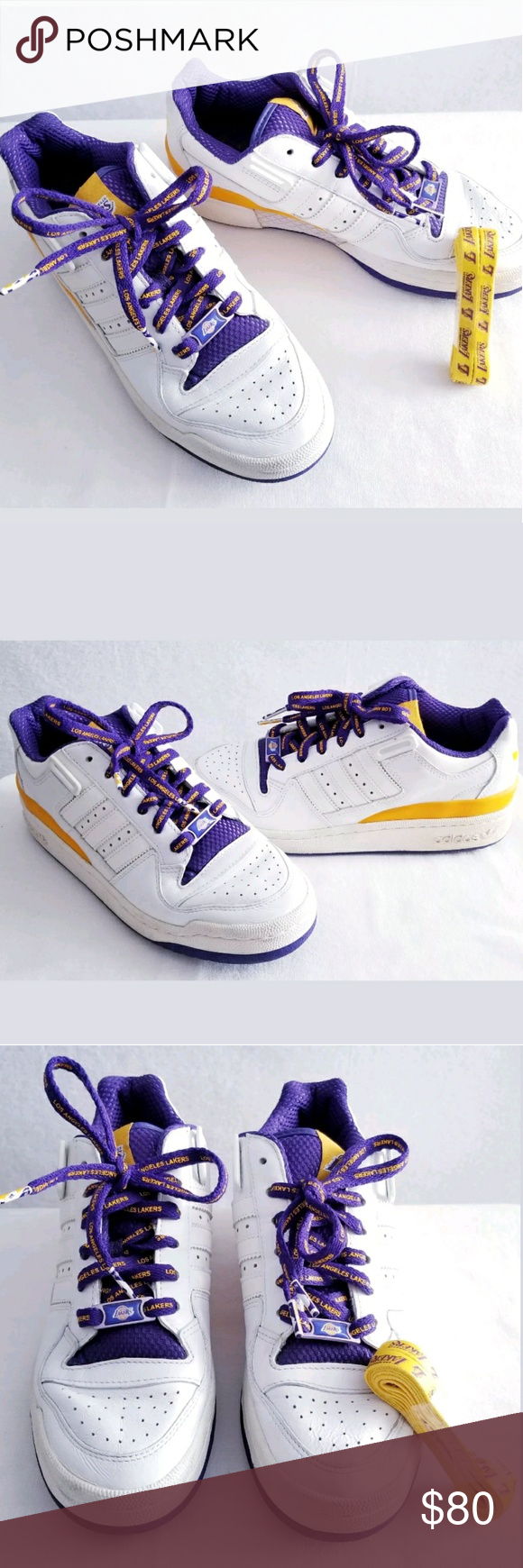 2c97e48f90d6 Adidas Originals L.A. Lakers Sneakers Shoes US 7 Part of the NBA pack from  adidas is