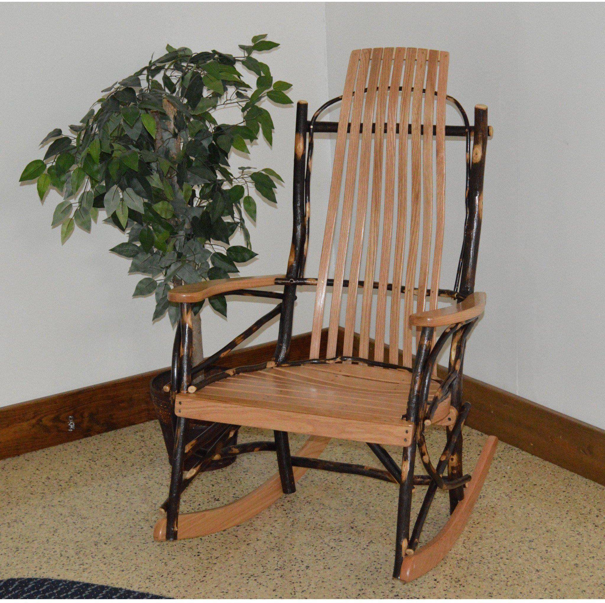 A & L Furniture Co. Amish Bentwood Hickory 9Slat Rocking