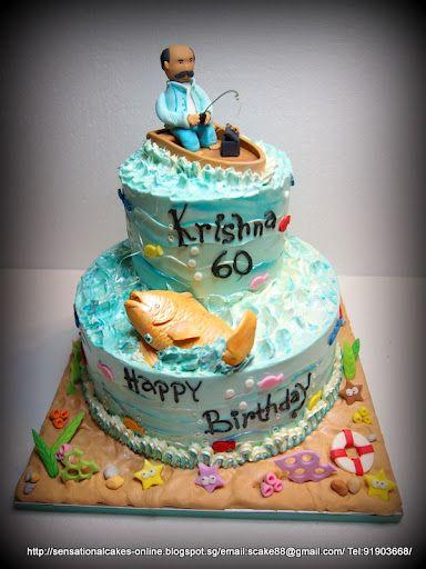 Tremendous Fishing Theme Cake Singapore 60Th Birthday Cake Singapore Funny Birthday Cards Online Overcheapnameinfo