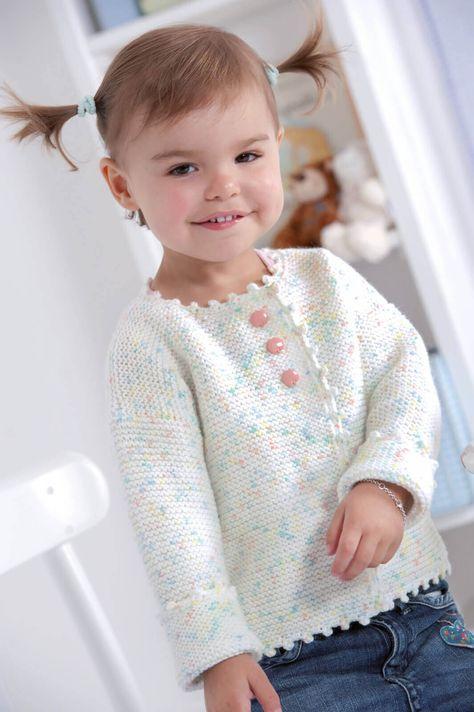 Baby-Jacke in zarten Bonbon-Farben - kostenlose Strickanleitung ...
