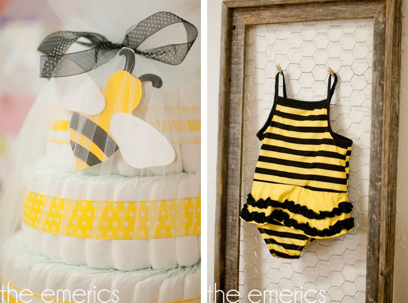 Bumble Bee Baby Shower Supplies