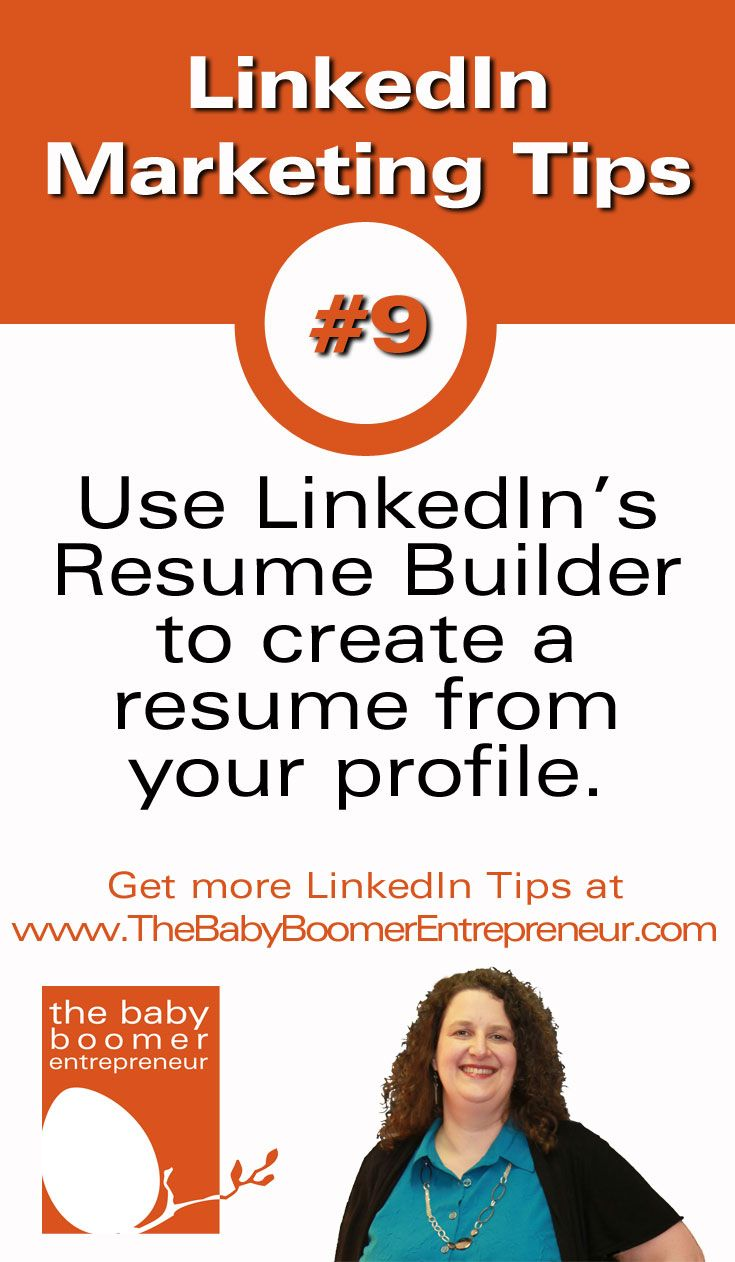 Resume Builder Linkedin Use Linkedin's Resume Builder To Create A Resume From Your Profile .