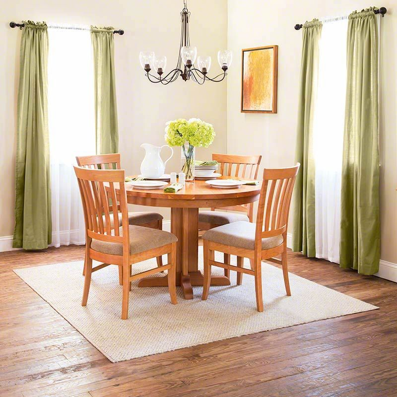 Shaker Round Singlepedestal Dining Table  Solid Wood  Usa Made Impressive Single Dining Room Chair Inspiration
