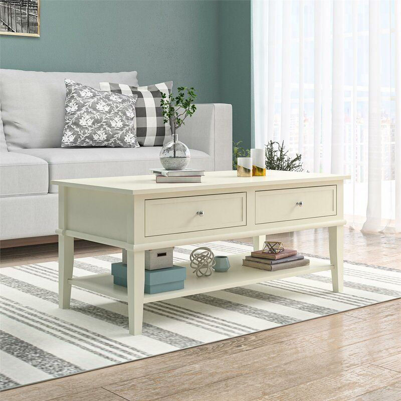 Dmitry Coffee Table With Storage In 2020 Coffee Table White Wooden Coffee Table Coffee Table #wooden #end #tables #for #living #room