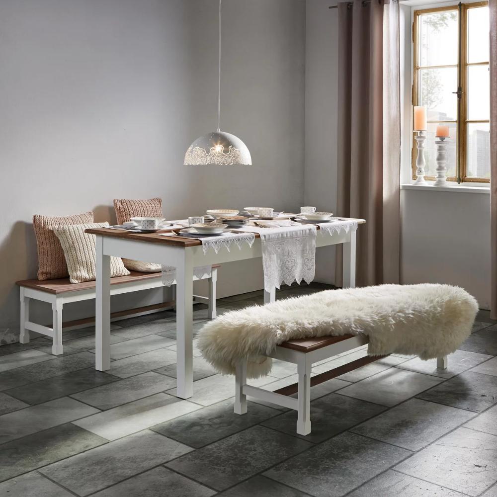 Sitzbank In Weiss Kieferfarben Cookie Online Kaufen Momax In 2020 Bauernhaus Esszimmer Bauernhaus Mobel Esstisch Dekor