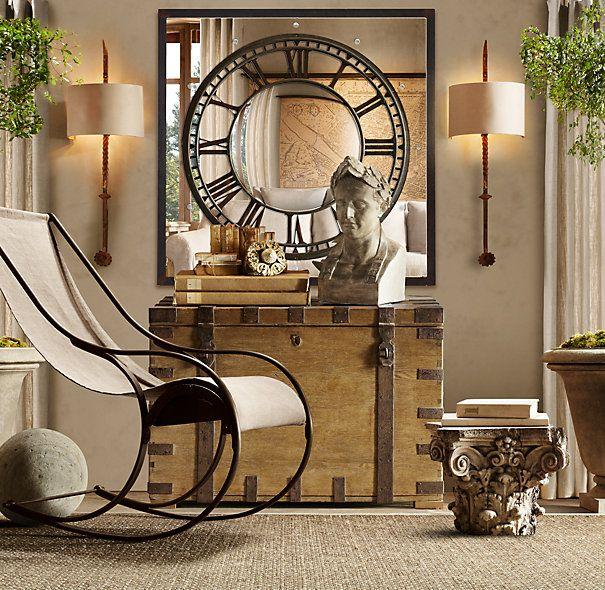 Attractive Convex Clock Mirror   Restoration Hardware. On My Wishlist! Great Pictures