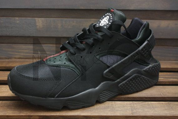 rabais moins cher de Chine Nike Huarache Noir Gris Éléphant Fond Blanc sortie rabais professionnel à vendre réduction abordable o7B26Csr2