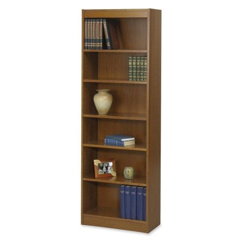 Safco 6 Shelf Veneer Baby Bookcase 24 Inch W Medium Oak By Safco Http Www Amazon Com Dp B002wrhh4g Ref Cm Sw R Pi Bookcase Shelves Small Office Furniture