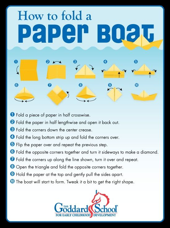 Image result for how to make a paper boat that floats and holds ...