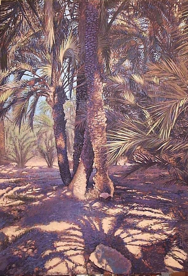 Sombras Del Palmeral Painting