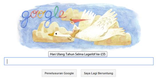 Selma Lagerlöf Penulis Terkenal Swedia di Logo Google