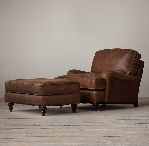 Delicieux English Roll Arm Leather Chair | Restoration Hardware