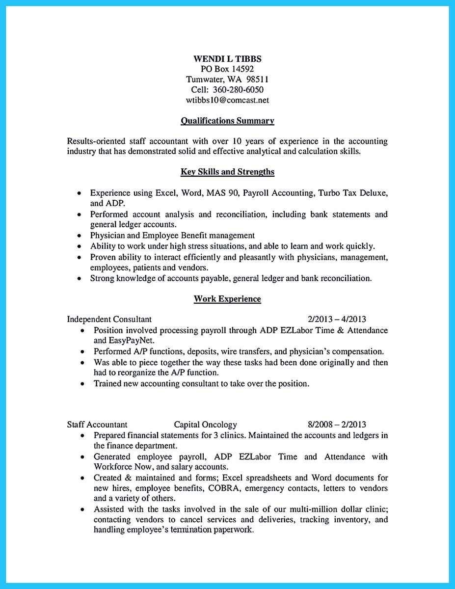 Greatest Bookkeeper Resume To Be A Greater Bookkeeper