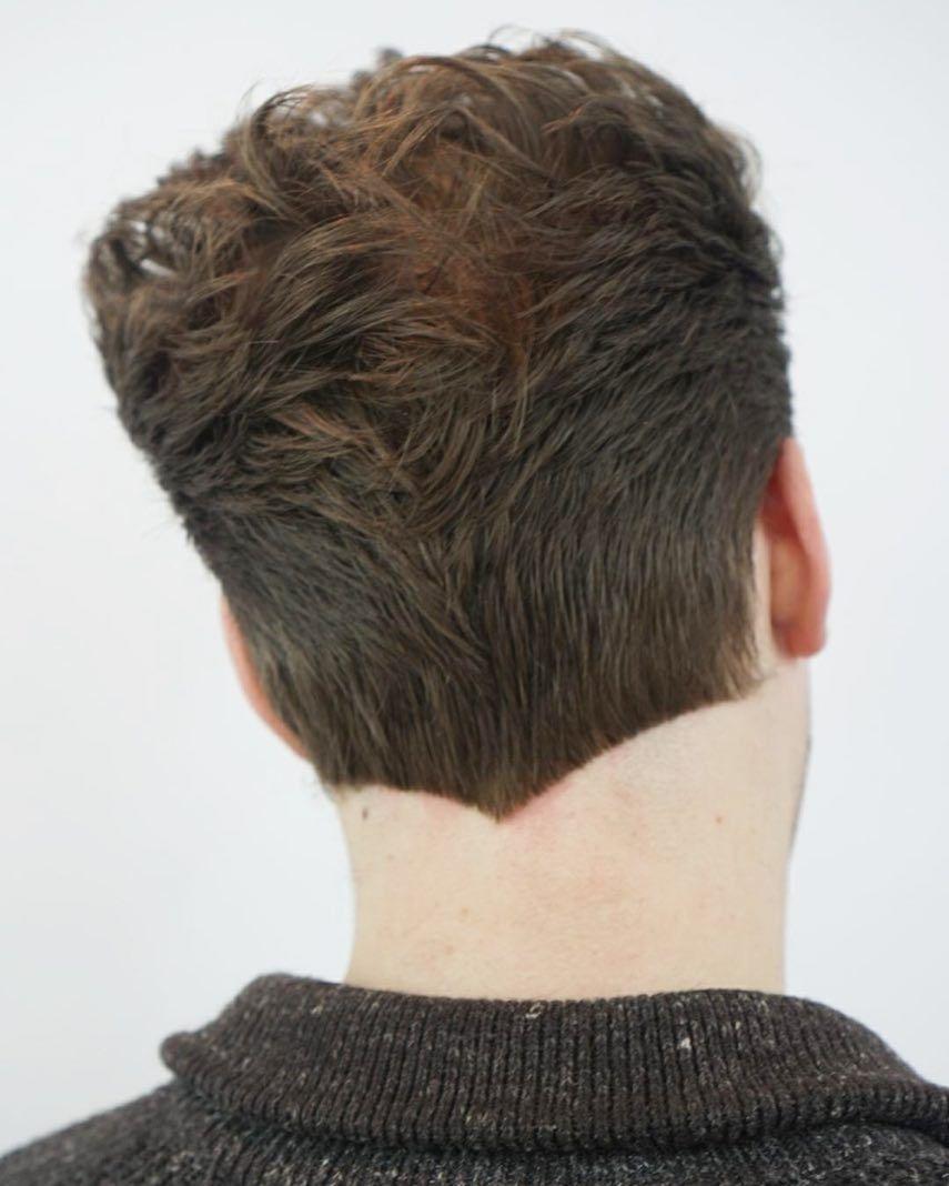 V Haircut Mens : haircut, Neckline, Designs:, Shape, Styles), Haircuts, Shaped, Haircut,, Short