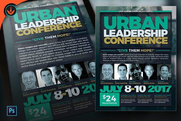 Urban Leadership Conference Flyer by SeraphimChris on - conference flyer template