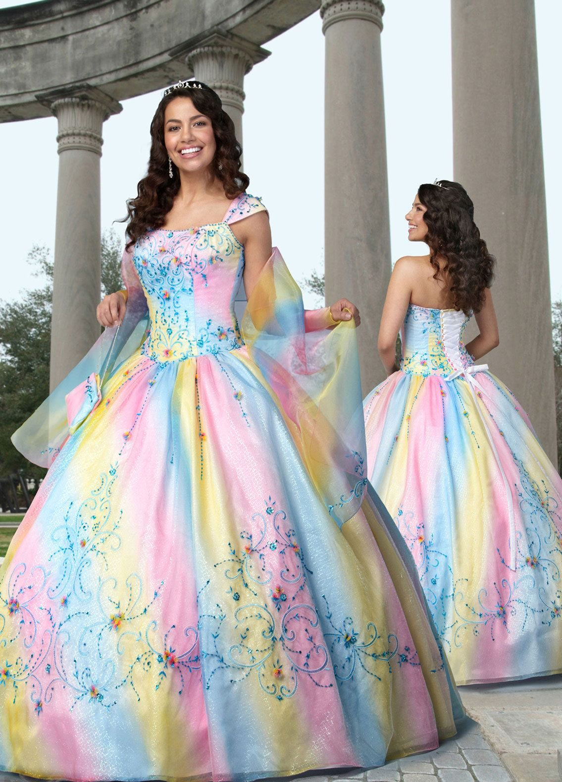rainbow ball dress | Dresses(: | Pinterest | Traumkleider, Ballkleid ...