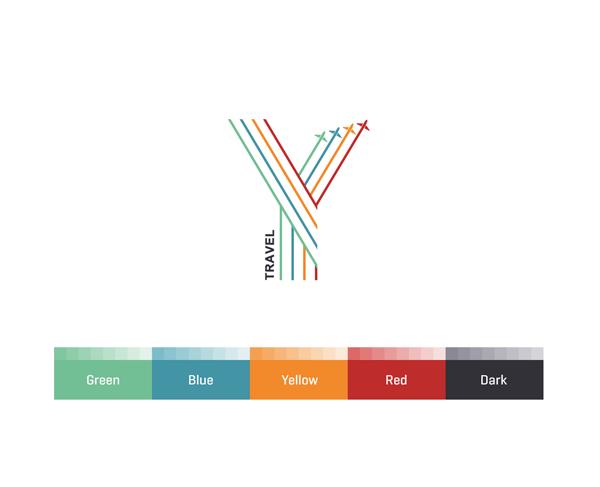Y Travel Brand Identity Design Travel Brand Logo Design Color Palette Brand Identity Design