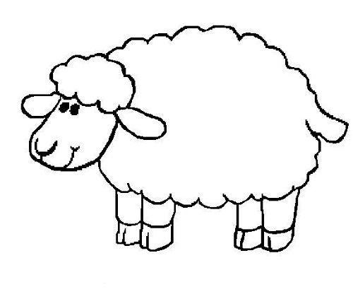 Sheep Coloring Pages Preschool With Images Sheep Drawing