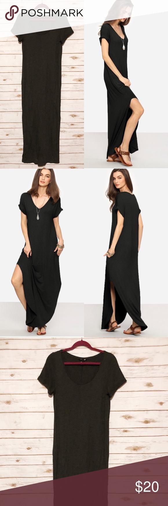 Sold H M T Shirt Maxi Dress Maxi Shirt Dress Maxi Dress Clothes Design [ 1740 x 580 Pixel ]