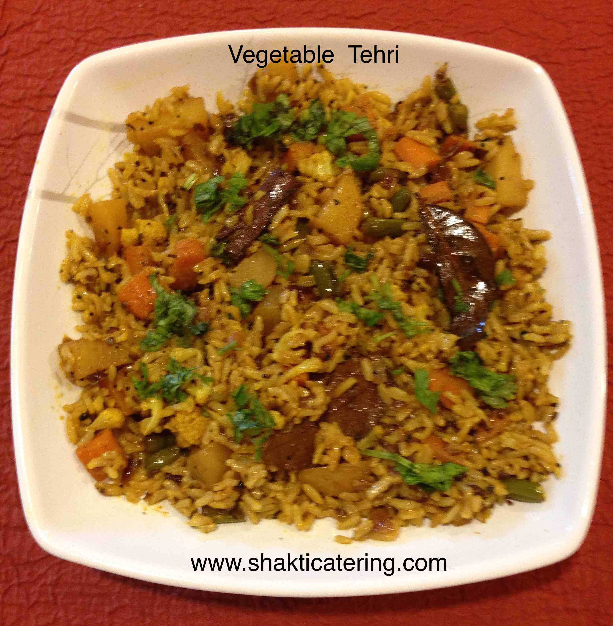 Vegetable tehri mixed vegetable pulao from up tehri is for Awadhi cuisine vegetarian