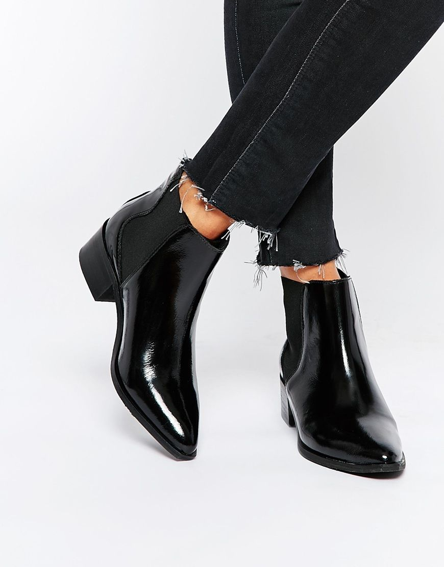 Exceptionnel Image 1 - Selected Femme - Elena - Bottines pointues en cuir  RB79
