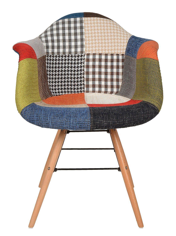 Ts ideen sedia poltroncina stile patchwork anni 39 50 in for Sedia design amazon