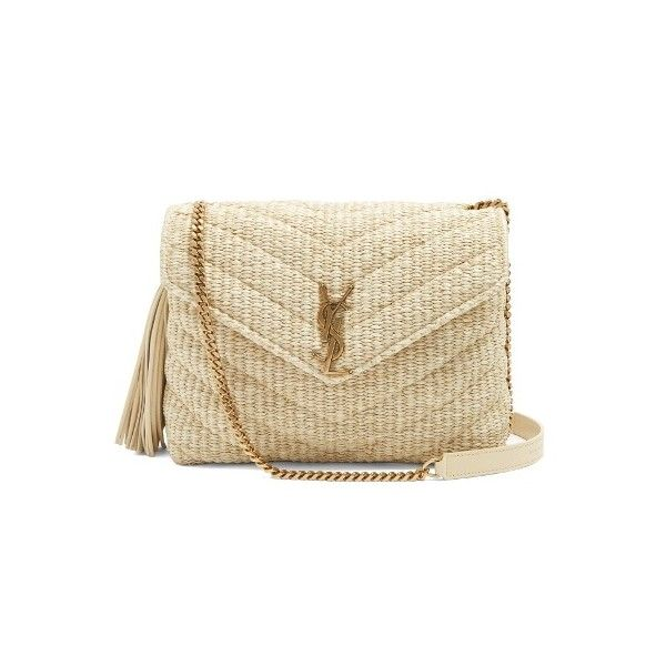 2b86202dc77a Saint Laurent Monogram small quilted-raffia cross-body bag (24.627.195 IDR