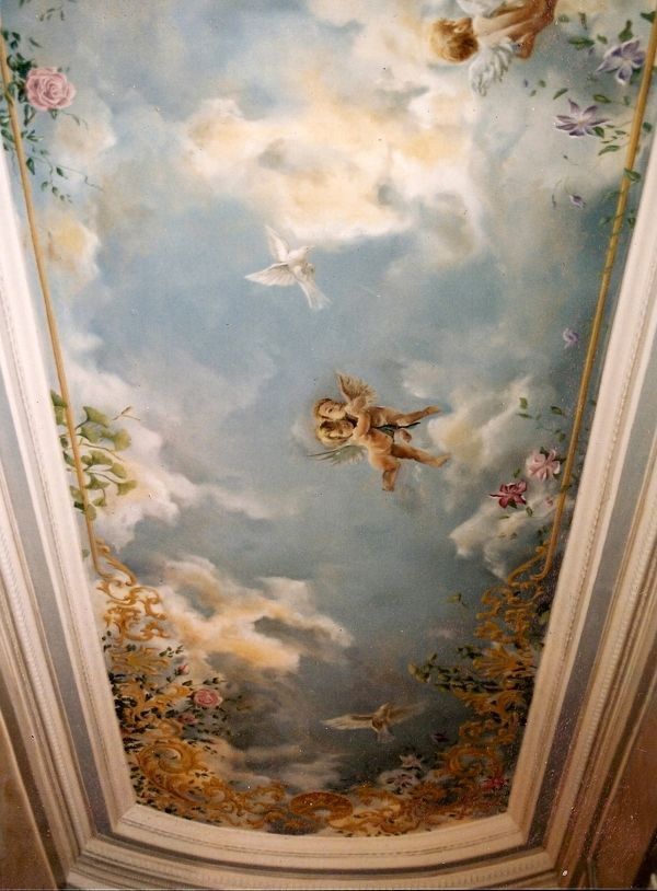 About sky and ceilings by mich el biquet via behance up for Ceiling mural painting techniques