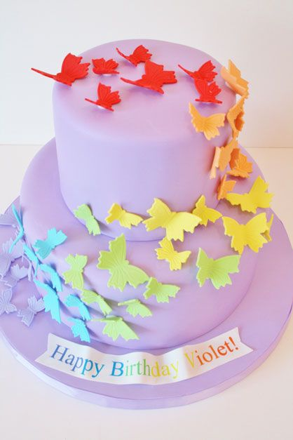 Birthday Cakes NYC Rainbow Butterfly Custom Cakes Kids Birthday
