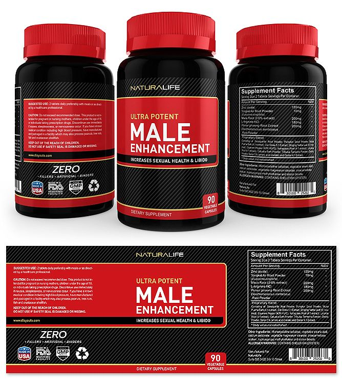 Male Enhancement Supplement Label Template | Male enhancement, Label  templates, Packaging template