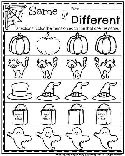 October Kindergarten Worksheets Preschool Kindergarten