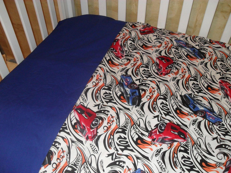 Hot Wheel Toddler/Crib Bedding Set. $34.99, Via Etsy.