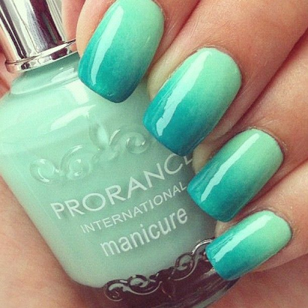 ombre nails | You can tell alot about a girl by the color of her ...