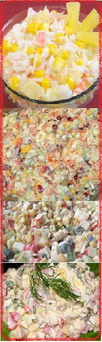 Салат из крабовых палочек и кукурузы при диете