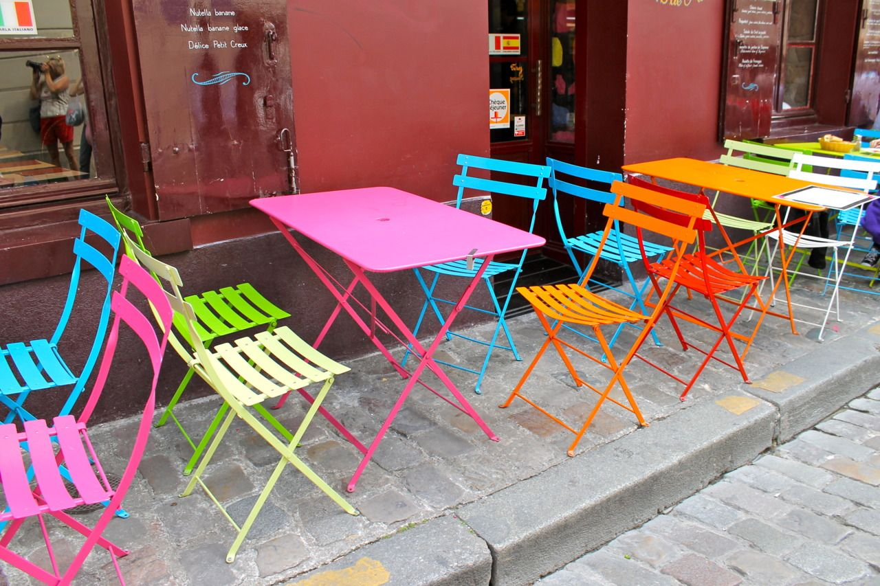 Colorful Tables Amp Chairs Cheap Effective Color Wheel