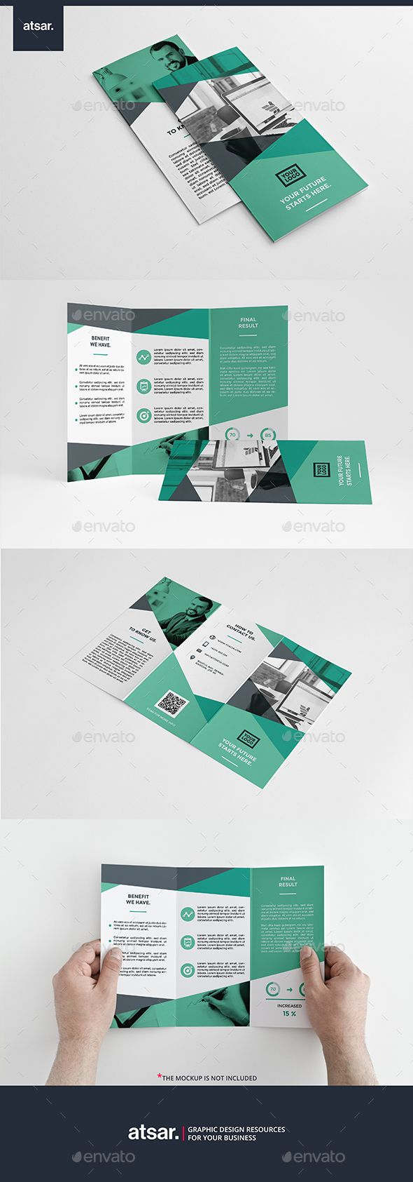 Toscia Trifold Brochure Template InDesign INDD #design Download ...
