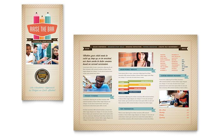 tutoring school brochure design template by stocklayouts projects