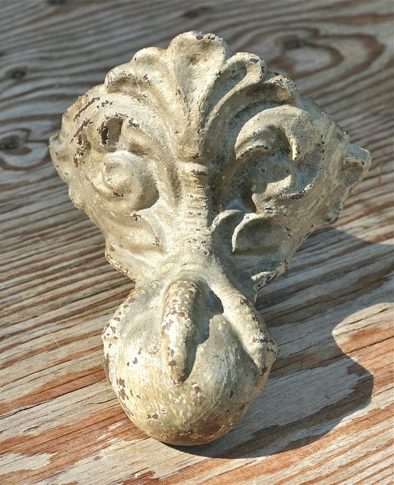 Antique Cast Iron Claw Foot Bath Tub Feet Ornate By Ivorybird, $125.00